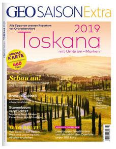 Deckblatt Zeitschrift Geo Saison Extra Toskana