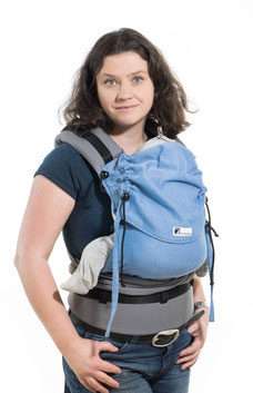 Half Buckle baby carrier by Huckepack