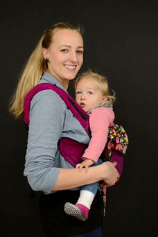 Onbuhimo baby carrier, front carry, Huckepack Onbu