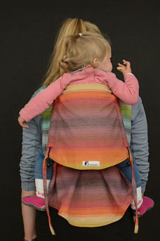 Huckepack Podaegi baby carriers made from Girasol wraps.