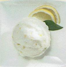 Sorbet mit Zitronen-Zesten