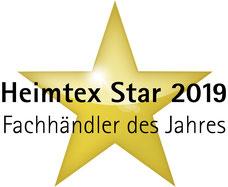 Logo Heimtex Star 2019 Fachhändler des Jahres