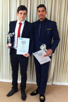 Jack Bristowe pictured with Olympic athlete Louis Smith
