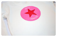 """Shirt """"Kleine Schwester""""/""""Große Schwester"""" mit Stern ab 20€"""