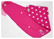 """Individualisierbares Halstuch zum Wenden """"Monster (pink)"""" 15€"""