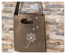 NEU: Filz-Tasche PUSTEBLUME