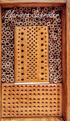 Insektenhotel Insektennisthilfe Nisthilfe Schilf Bohrungen