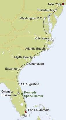 Mietwagenreise von New York nach Florida