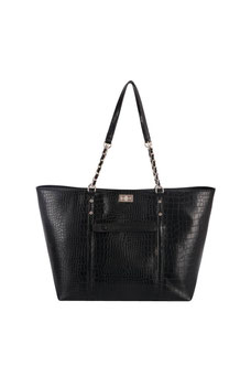 Sac shopping aspect croco David Jones noir CM5859A
