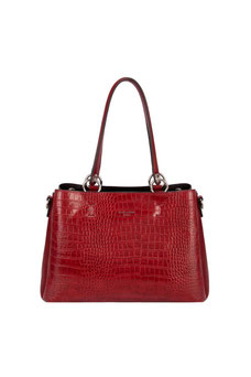 Sac à main aspect croco David Jones rouge CM5896