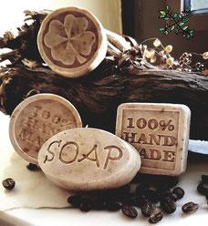 Handgemachte Seife nach dem Verfahren der Kaltsiedung.