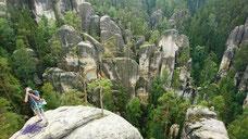 Felsenwelt in Adrspach - auf dem Poledni