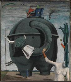 Max Ernst 1891–1976, Célèbes, 1921, huile sur toile, 1254 x 1079 mm / Photo Tate galerie