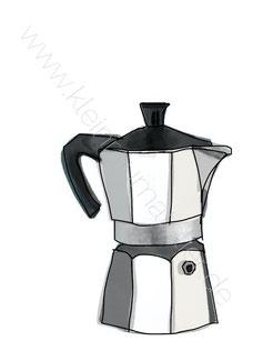 Kaffee Print Mokkakännchen
