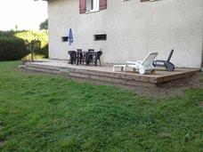 Terrasse en Pin La Roche sur Foron