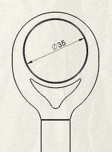 Passend für 35mm Ösen-Durchmesser