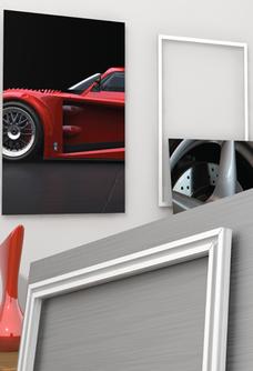 Die Profile werden in Gehrung geschnitten, damit Sie den Rahmen einfach und leicht hinten am Bild anbringen können.