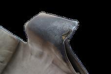 Schadstelle, die Lederreparatur benötigt