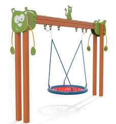 Altelene accessibili disabili Altallegre giochi per parco, giochi per parchi, attrezzature per parchi gioco, strutture ludiche Stileurbano Ciuffo Baobab certificati Norma EN1176 CATAS stileurbano oratorio FOM odielle abbiategrasso