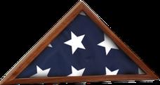 "16 1/4"" x 8 1/4"" Genuine Walnut Flag Display Case"