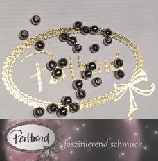 www.perltrend.com Perlen silberfarben Metall platinfarben 4mm rund flach glatt beads schmuck verarbeitung