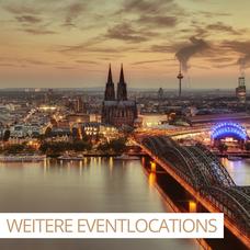 Bildbeispiel der Kölner Skyline für unsere weiteren Eventlocations