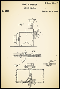 US Patent  6.099 - February  6, 1849  Morey  & Johnson