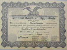 zert. National Guild of Hypnotist