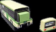 ホッチキス バス型 収納BOX 付箋