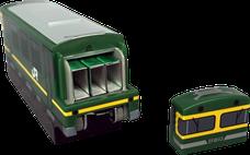 ホッチキス 電車型 収納BOX 針