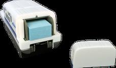 ホッチキス オリジナル/新幹線型 収納BOX 付箋