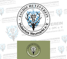 das neue Vereinslogo (2014) | im Hintergrund das Alte