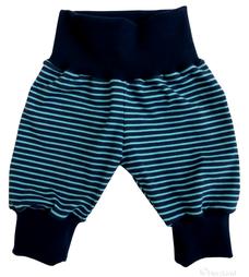 blau hellblau geringelte Pumphose für Kinder, Herzkind, faire Mode, Berlin