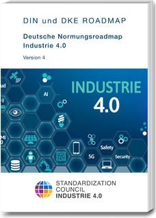 Coverbild der Deutschen Normungsroadmap Industrie 4.0-Version 4