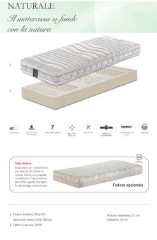 materasso in lattice naturale sfoderabile materassi ferrara manifattura falomo sfoderabile anallergico ipoallergenico lana cotone
