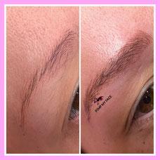 Diamant Nano Blading Augenbrauen Härchenzeichnung - Schulungen - Pimp my Face Norderstedt - Microblading - Nanblading