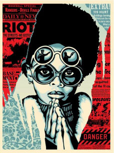 Shepard Fairey Late Hour Riot 2017