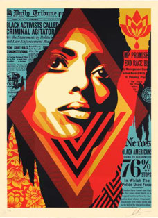 Shepard Fairey, Bias by Numbers, 2017