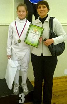 Ульяна с тренером Аллой Чернышовой