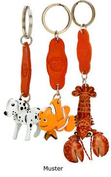 Tier Leder Schlüsselanhänger von Monkimau. Viele verschiedene Varianten.