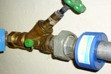 Vitalisierung von Wasser in Rohrleitungen.