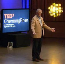 Mike Hoffmann giving a TEDx talk