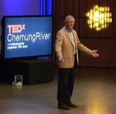 Mike Hoffmann giving a TEDx talk