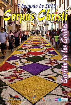Cartel y programa del Corpus 2015 en Carrión de los Condes