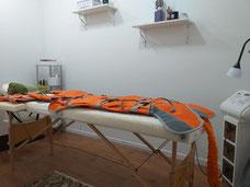 Cabina de presoterapia.