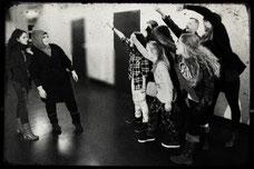"""Theaterprobe zum dokumentarischen Theaterprojekt """"Akte/NSU"""". Foto (c) Rahner"""
