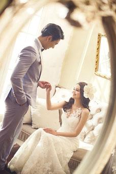 Bräutigam, Braut, Brautkleid