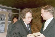 Geburtstag von György Konrad, Präsident der Akademie der Künste 2003