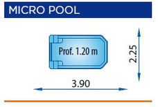 piscina poliester rectangular Mini-pool