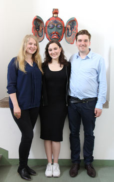 Annabelle Haecker, Anda Kasumaj und Andreas Sternberg, das Gründungsteam von articipate! Foto: © Stefan Müchler